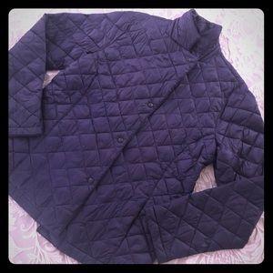 LL Bean Navy Blue Puffy Coat Large